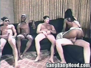 Gang Shares Black Pussy