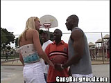 Amber Basketball Groupie Gang Bang